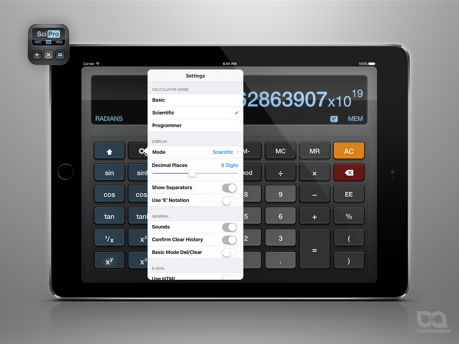 Scipro Calculator For Iphone Ipad Ipod Touch Digital Ambience